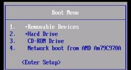 Các phím Menu Boot trên Laptop