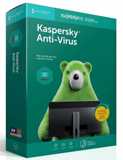 Phần mềm diệt virus Kaspersky Anti thời hạn 12 tháng